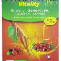 Phytaforce vitality - Ginseng Gelée royale Guarana Acérola 20 ampoules - Copie